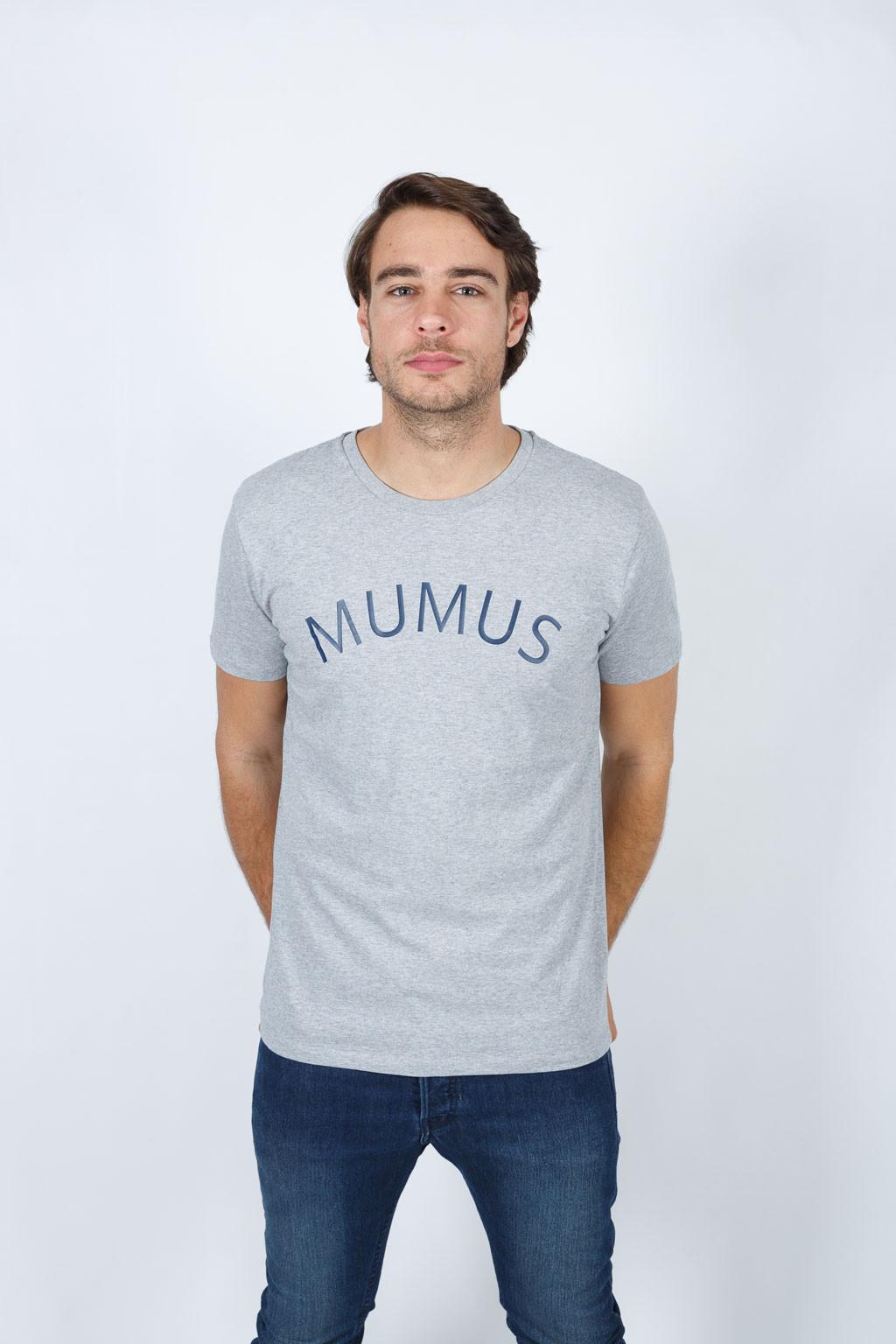 Camiseta Gris Stamp
