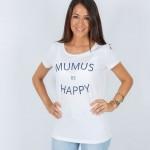 Camiseta Blanca Be Happy