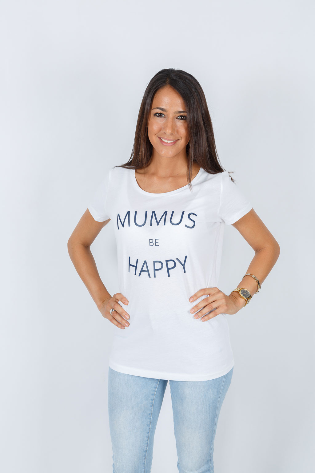 Camiseta Blanca Be Happy