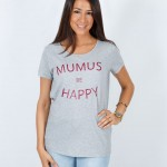 Camiseta Gris Be Happy