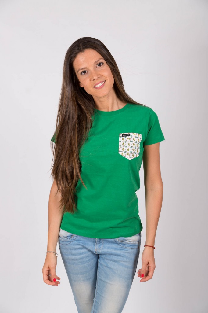 Camiseta Verde Heines