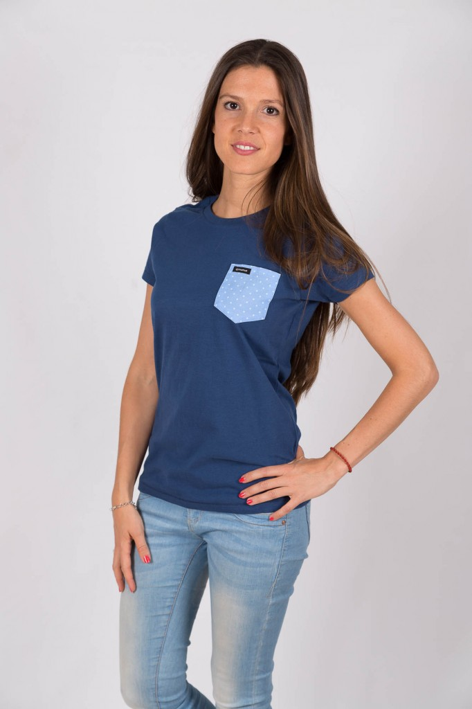 Camiseta Azul Bluemoon