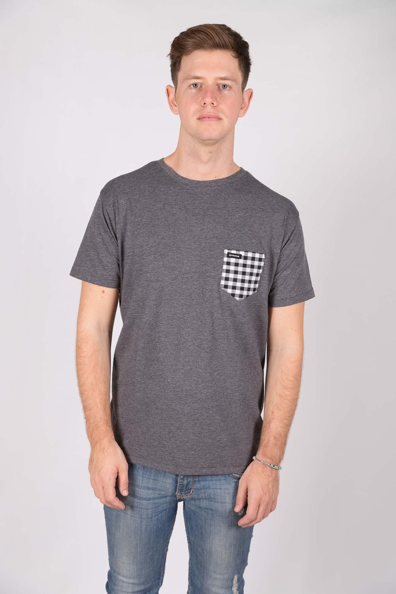 Camiseta Gris Oscuro Darcheck
